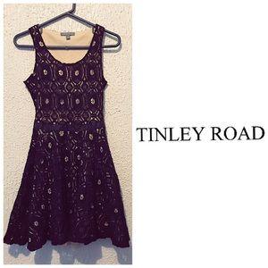 Black & Nude Lace Dress